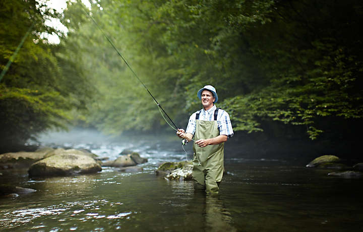 Enjoy Fly fishing during a Bluegreen vacation to Pigeon Forge