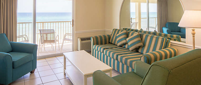 Panama City Resort & Club 1 Bed Deluxe Living Room