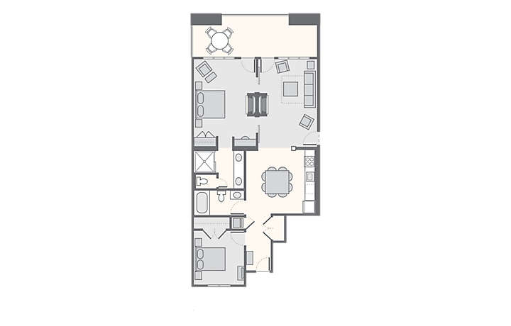 Paradise Point 2 Bedroom, 1,232 sq ft.