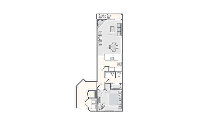 Paradise Point 1 Bedroom-Deluxe, 722 sq ft.