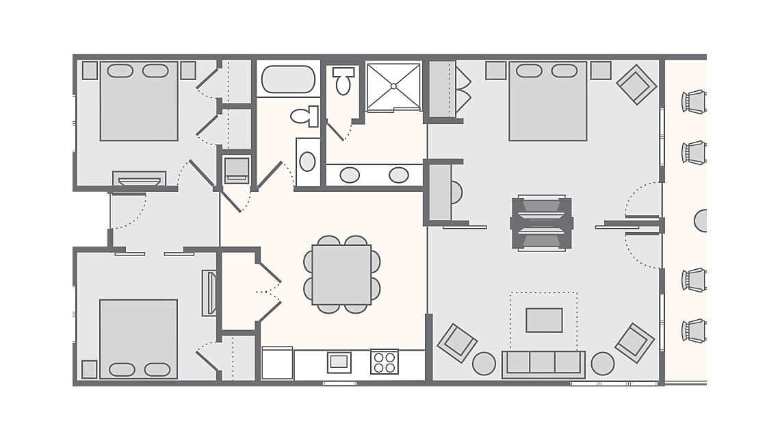 3 Bedroom 1,375 SQ FT