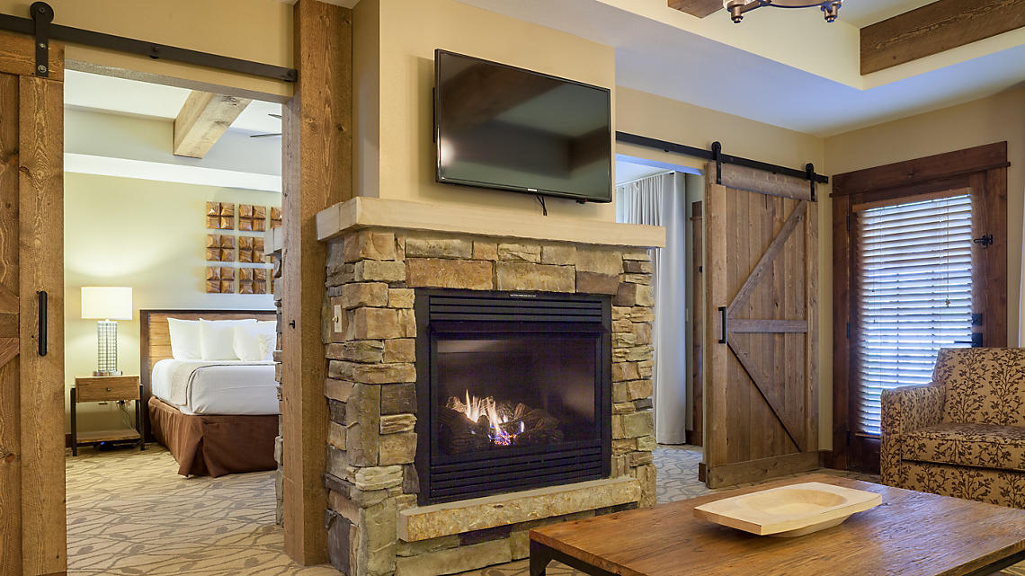 3 Bedroom Master Bedroom with Double-sided Fireplace