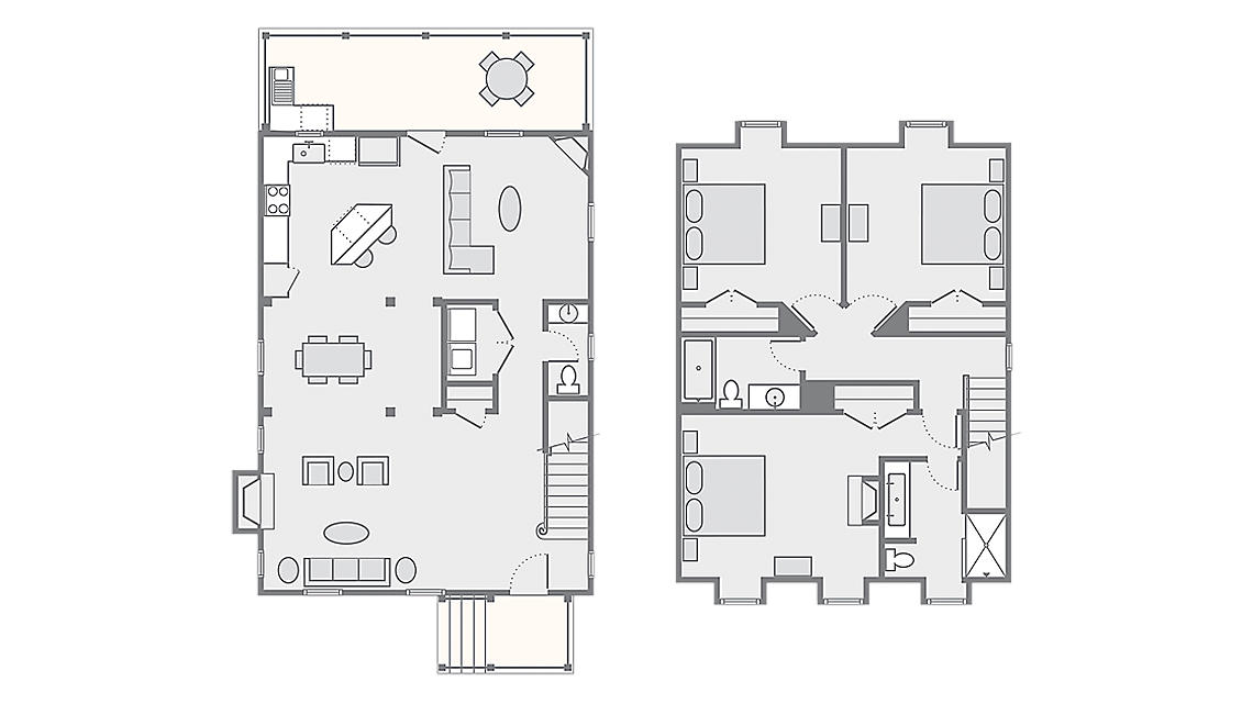 3 Bedroom Presidential - James 1,796 SQ FT