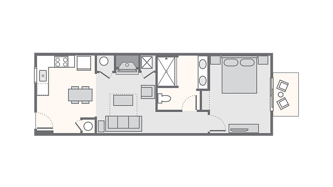 1 Bedroom Premium 625 SQ FT