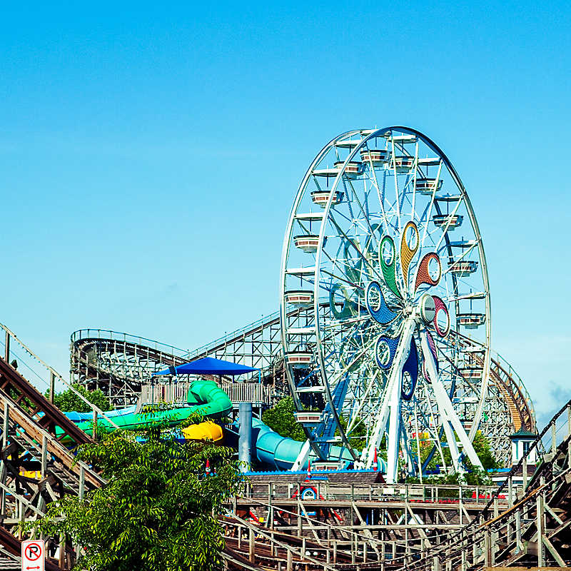Hersheypark® rides, roller coaster, ferris wheel and water rides