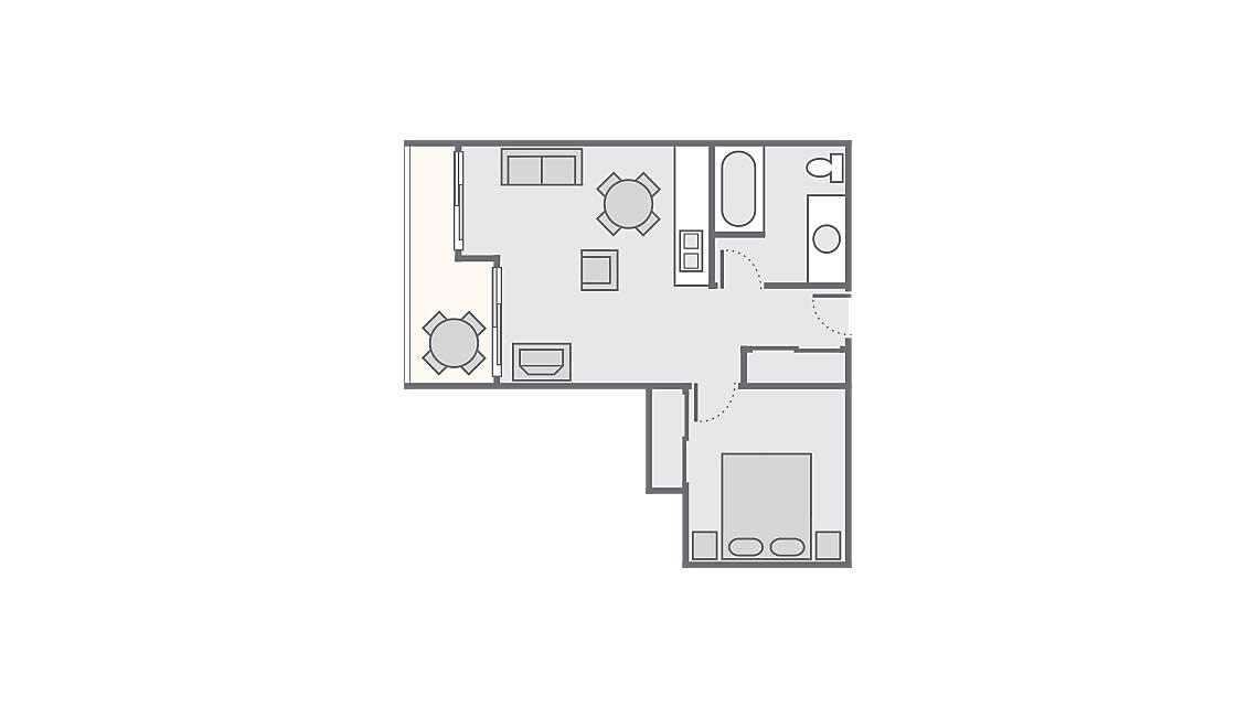 Mini Suite 400 SQ FT