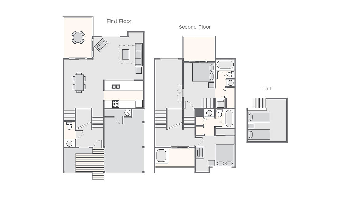 2 Bedroom with Loft 1,469 SQ FT