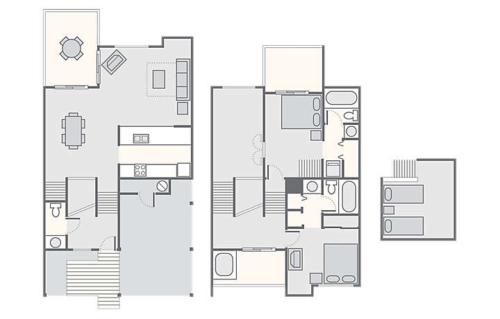 Sandcastle Village II 2 Bedroom with Loft, 1,469 sq ft.