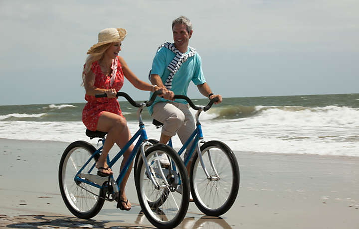 A beach bike ride at Savannah