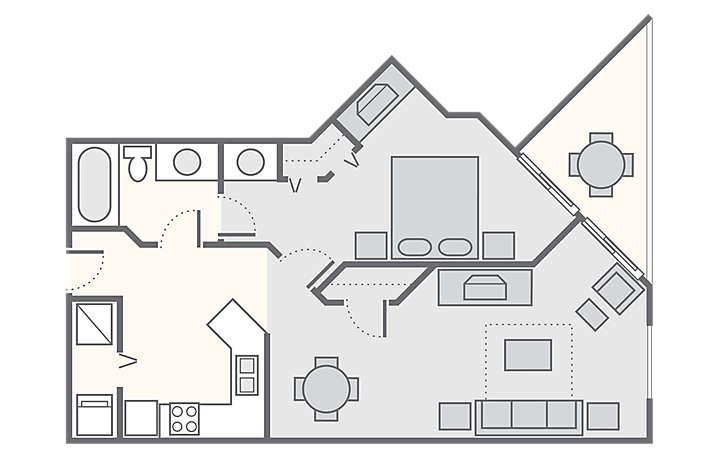 Shore Crest Vacation Villas™ I & II 1 Bedroom, 735 sq ft.