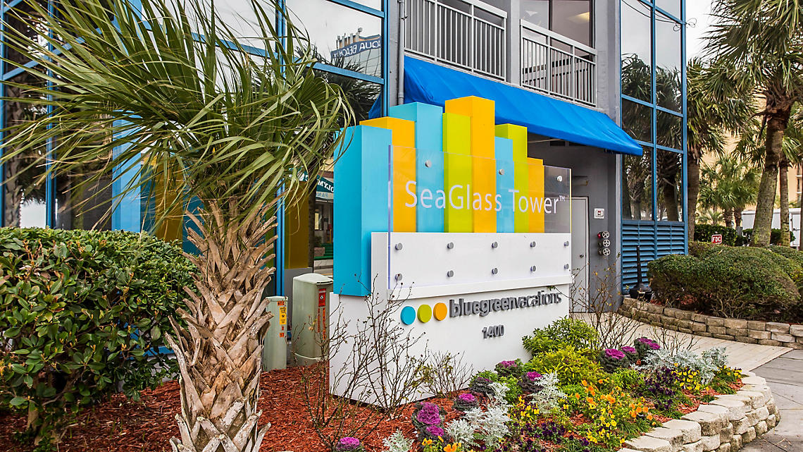 SeaGlass Tower Exterior Signage