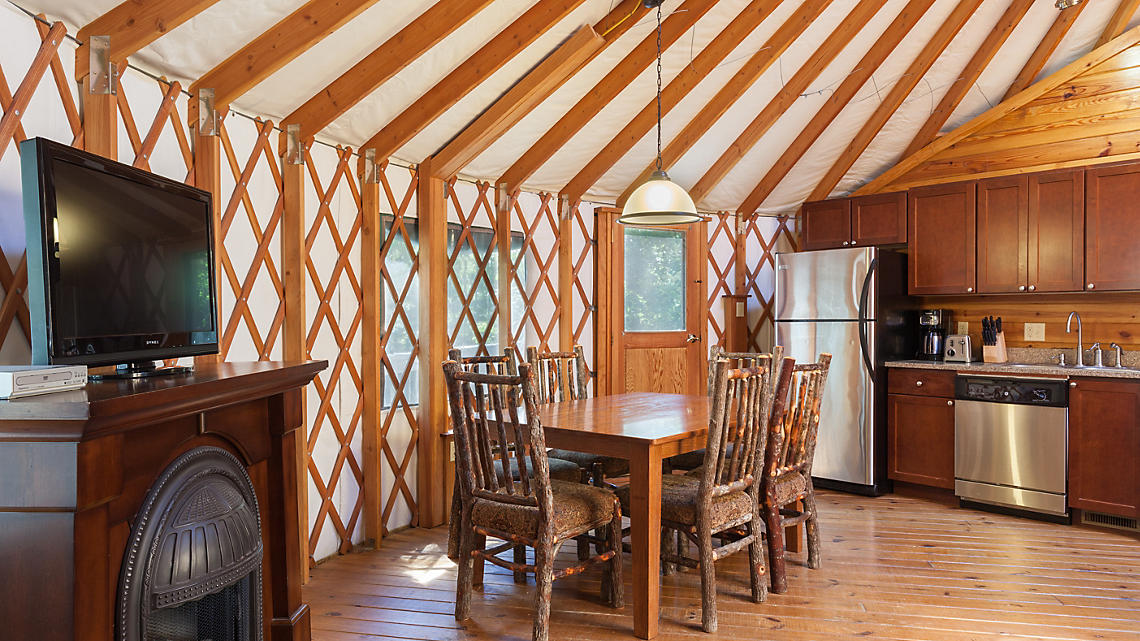 2 Bedroom Yurt Dining-Kitchen