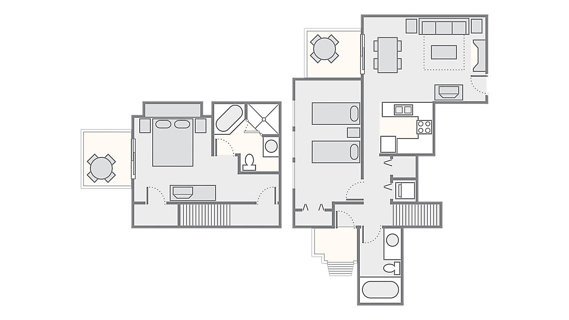 2 Bedroom Townhome 1,200 SQ FT