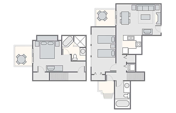 Shenandoah Crossing™ 2 Bedroom Townhome, 1,200 sq ft.