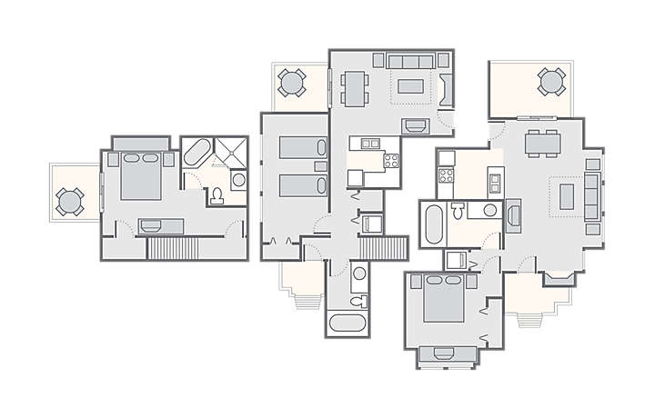 Shenandoah Crossing™ Combined 3 Bedroom Townhome, 1,700 sq ft.