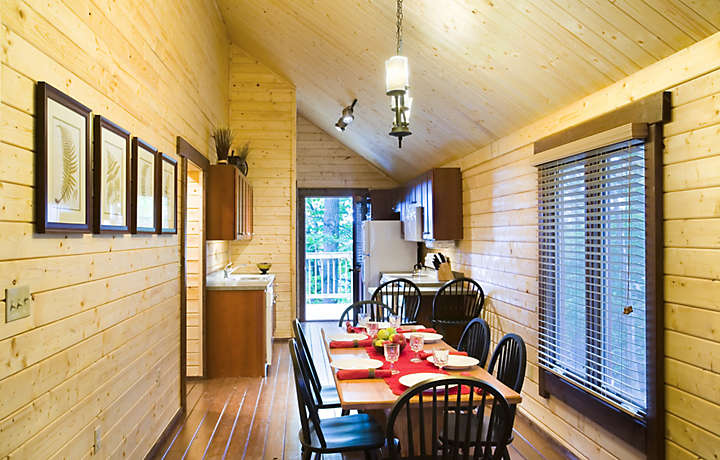 Cabin Kitchen and Dining - Shenandoah Crossing™