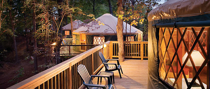 Shenandoah Crossing™ Yurt Exterior View