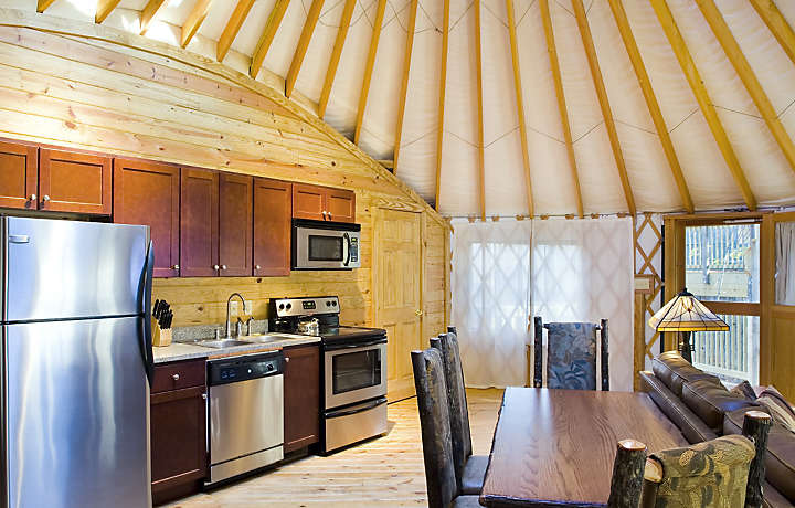 Yurt Kitchen and Dining - Shenandoah Crossing™