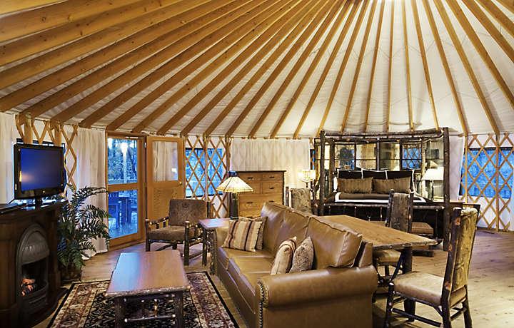 Inside of a Yurt - Shenandoah Crossing™