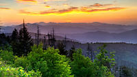 Scenic Smoky Mountains at sunrise