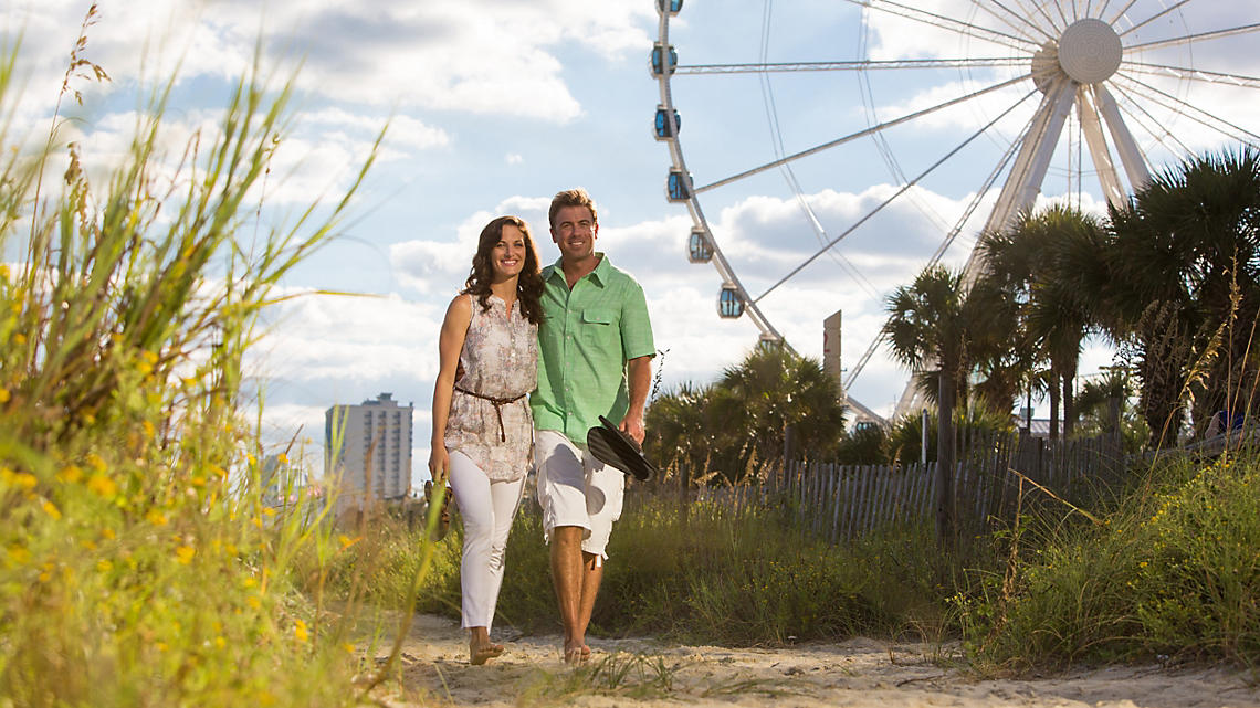 A relaxing seaside stroll in Myrtle Beach