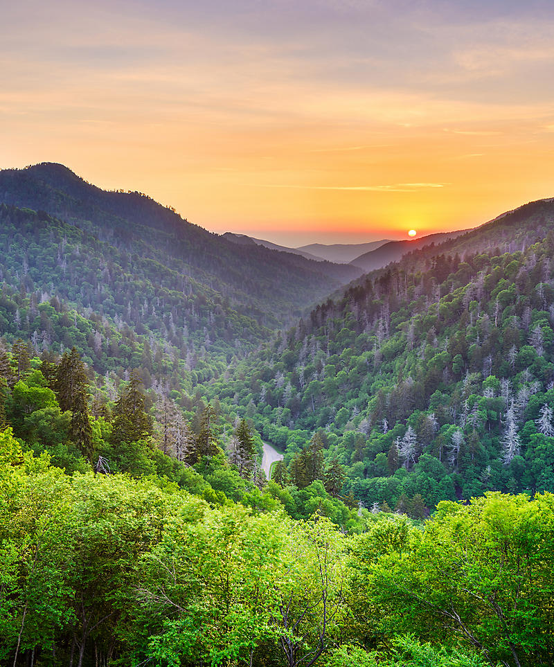 Smoky Mountains sunset.