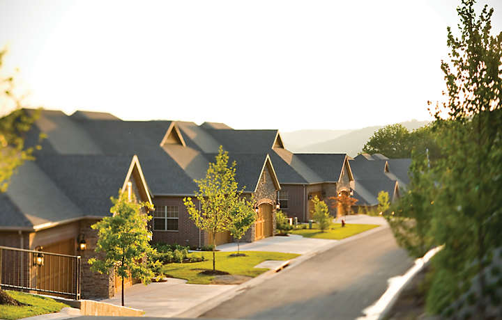 Row of Patio Homes - The Cliffs™ at Long Creek