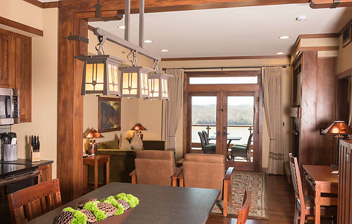 The Cliffs™ at Long Creek Lodge 2 Bed Living Area