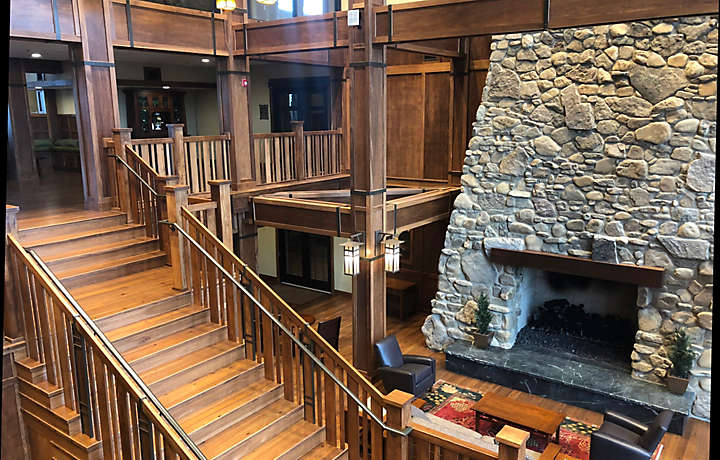 The Cliffs™ at Long Creek Lodge Lobby Fireplace