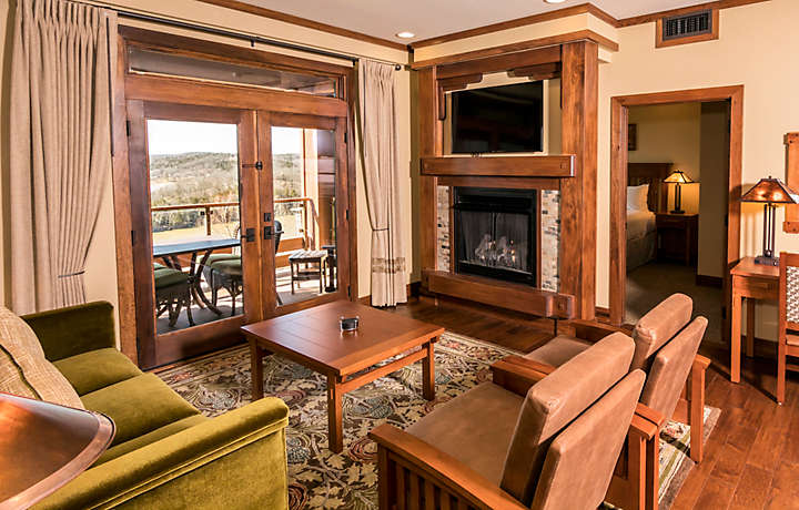 The Cliffs™ at Long Creek Lodge 2 Bed Living Room