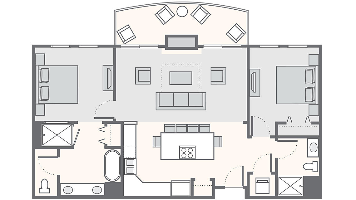 2 Bedroom 1,013 SQ FT