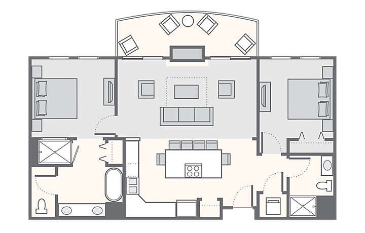 The Club at Big Bear Village - 2 Bedroom, 1,013 sq ft.