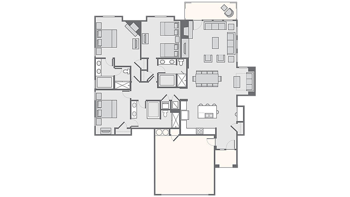 3 Bedroom Presidential 2,045 SQ FT