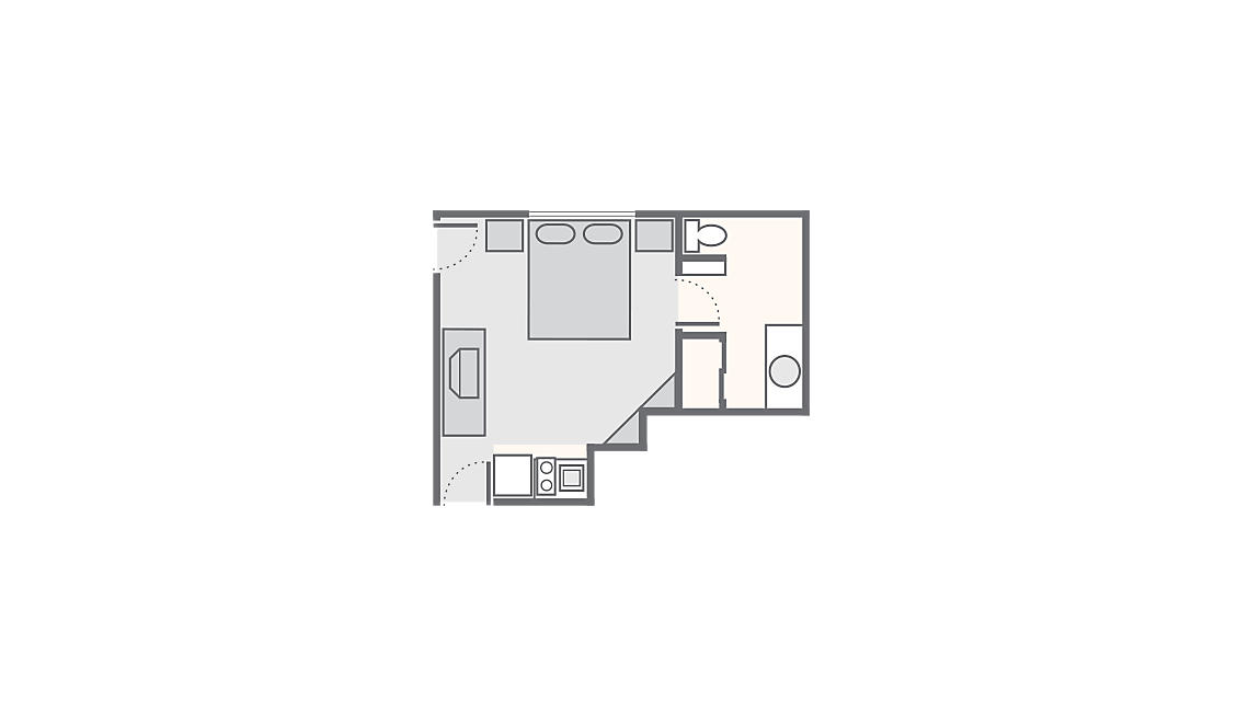 Studio 356 SQ FT