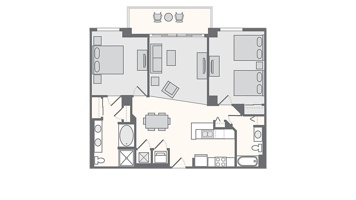 2 Bedroom Premium 1,092 SQ FT