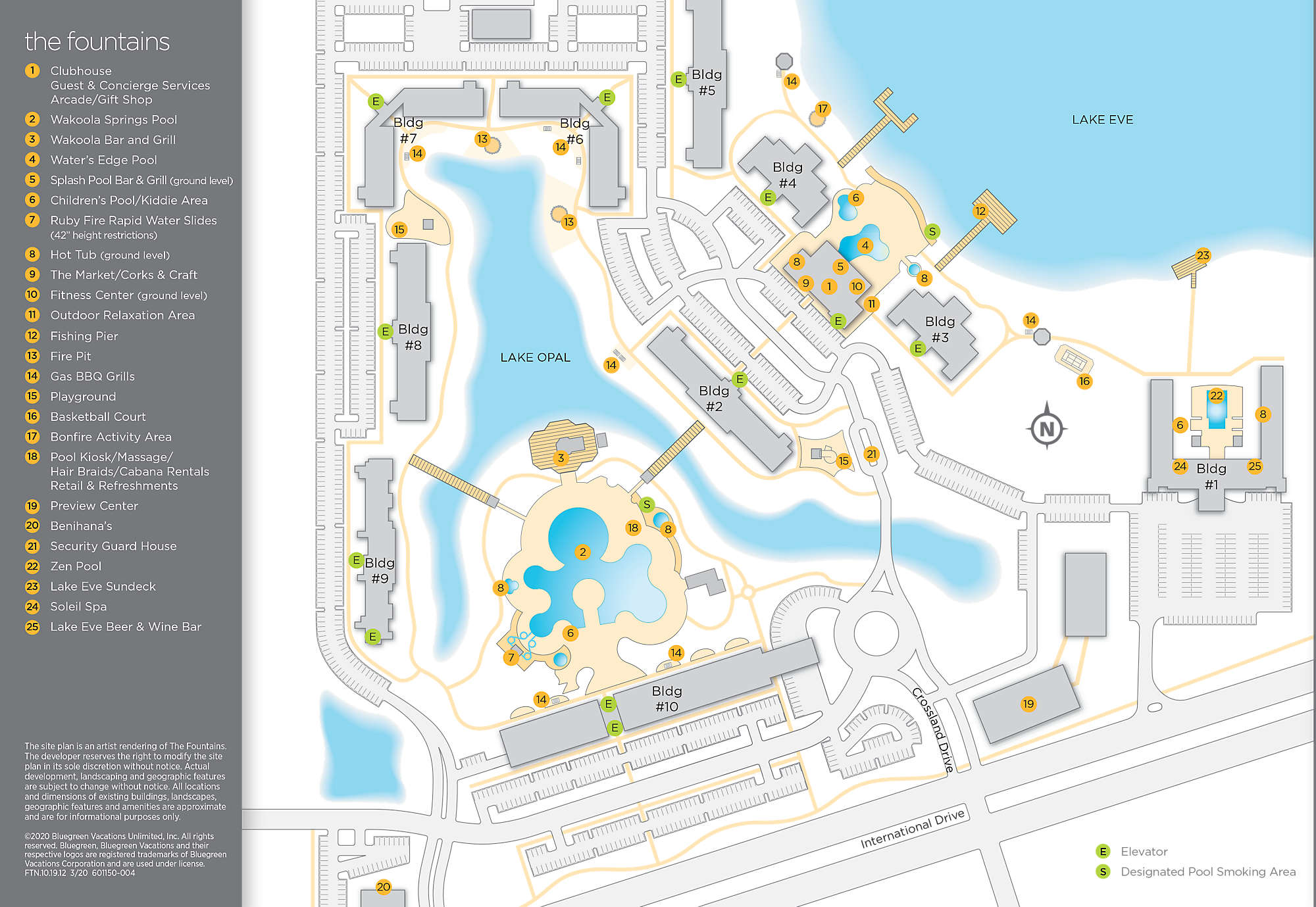 The Fountains Resort Map