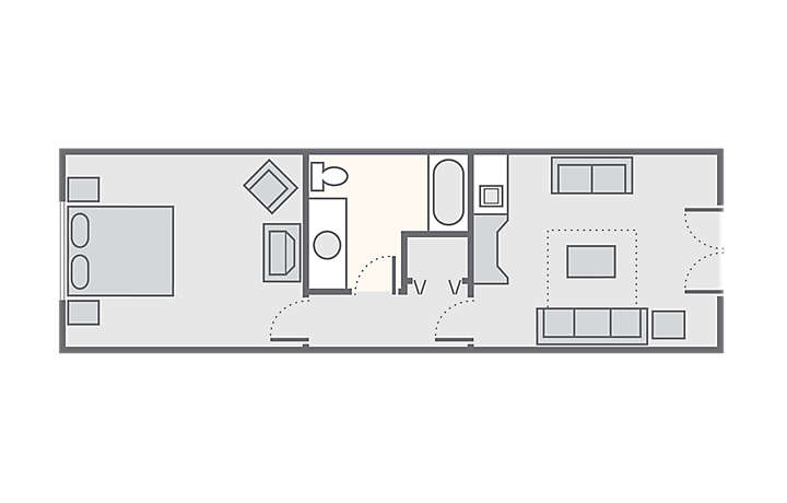 The Lodge Alley Inn™ 1 Bedroom Standard, 492 sq ft.