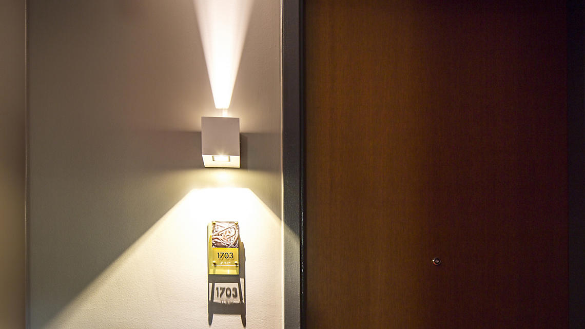 The spotlight shines on your suite number.