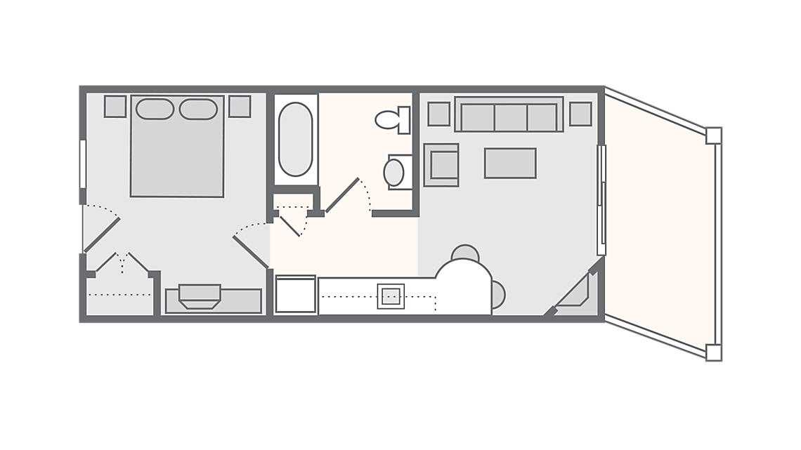 1 Bedroom Standard 345 SQ FT