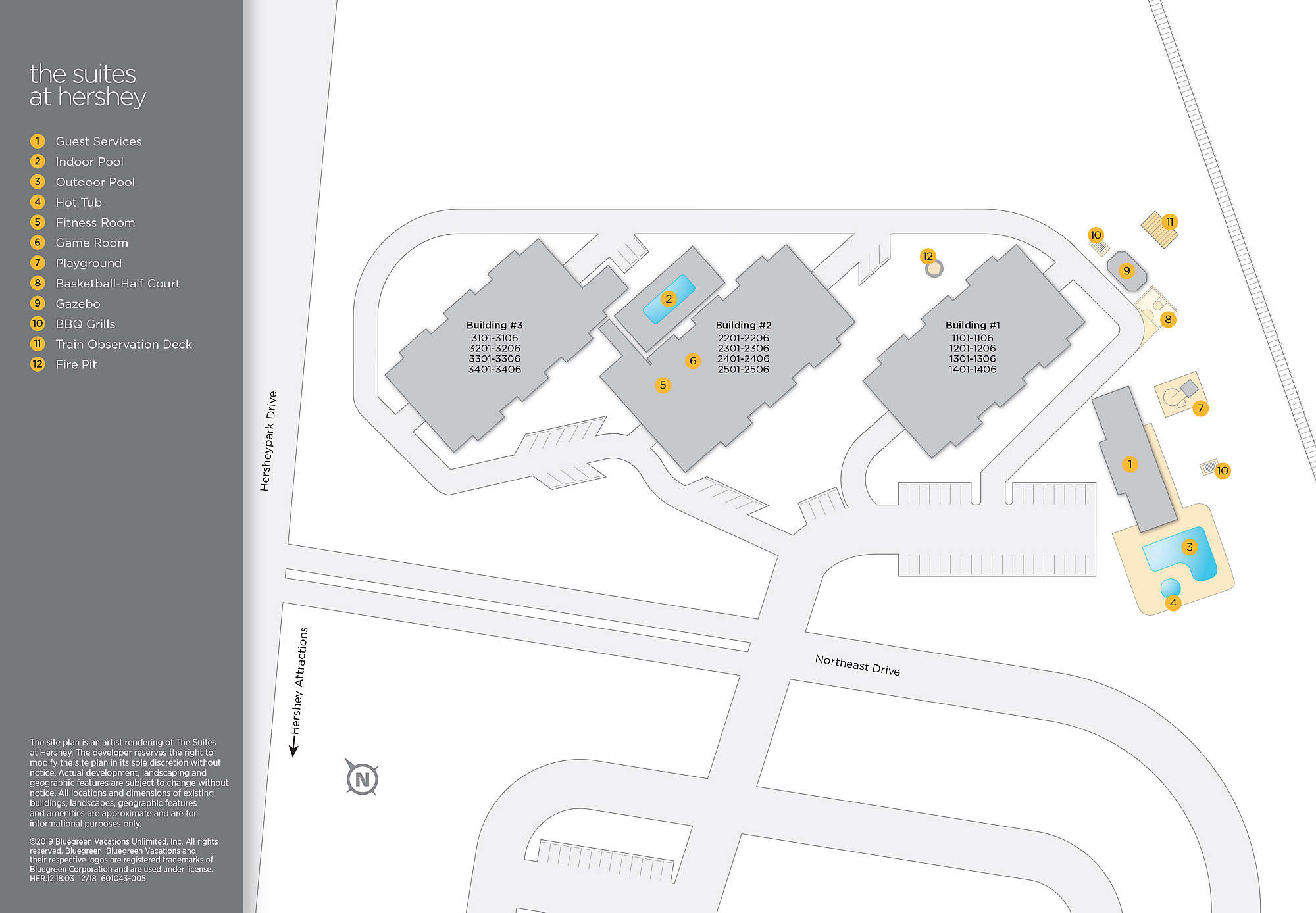 the suites at hershey bluegreen vacations the suites at hershey site map