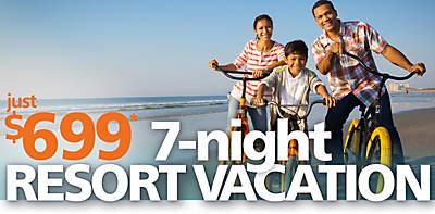 $699* 7-Night Resort Vacation