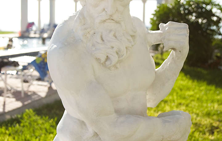 Grecian Statue Close-up - Via Roma Beach Resort