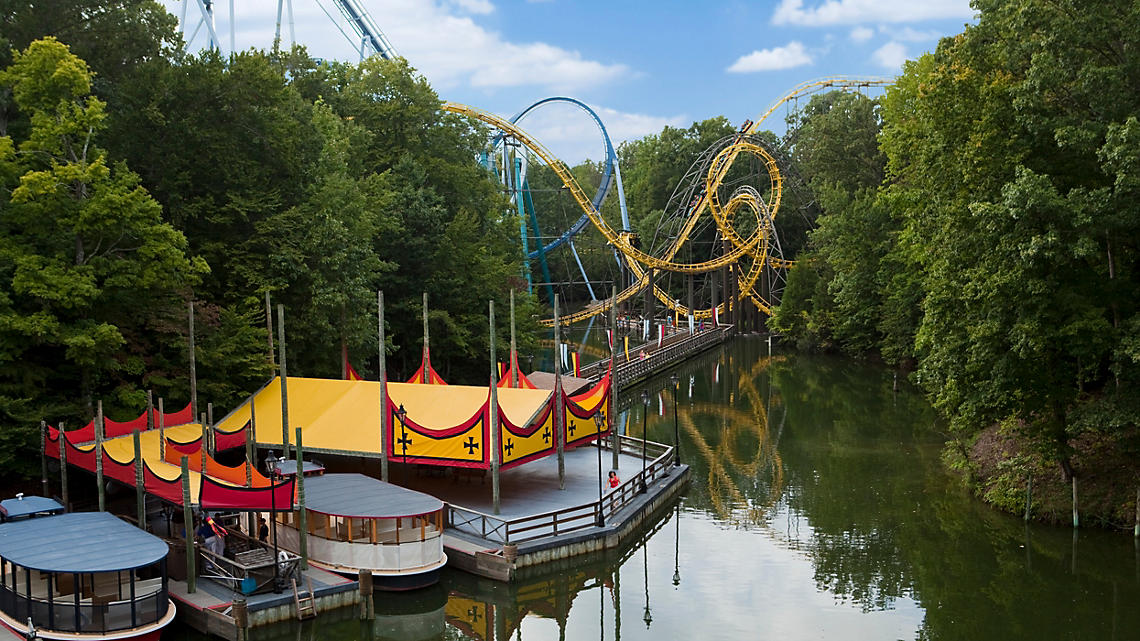 The Loch Ness Monster, a coaster in Busch Gardens