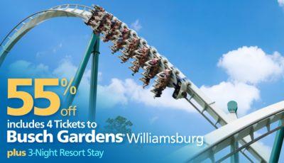 Busch Gardens Williamsburg Vacation Bluegreen Getaways