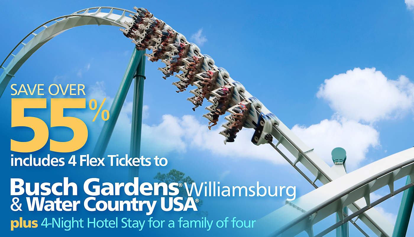 Busch gardens williamsburg water country usa discovery for Bush gardens tickets