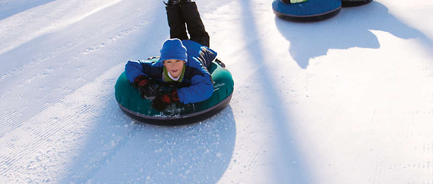 Snow tubing in Wisconsin