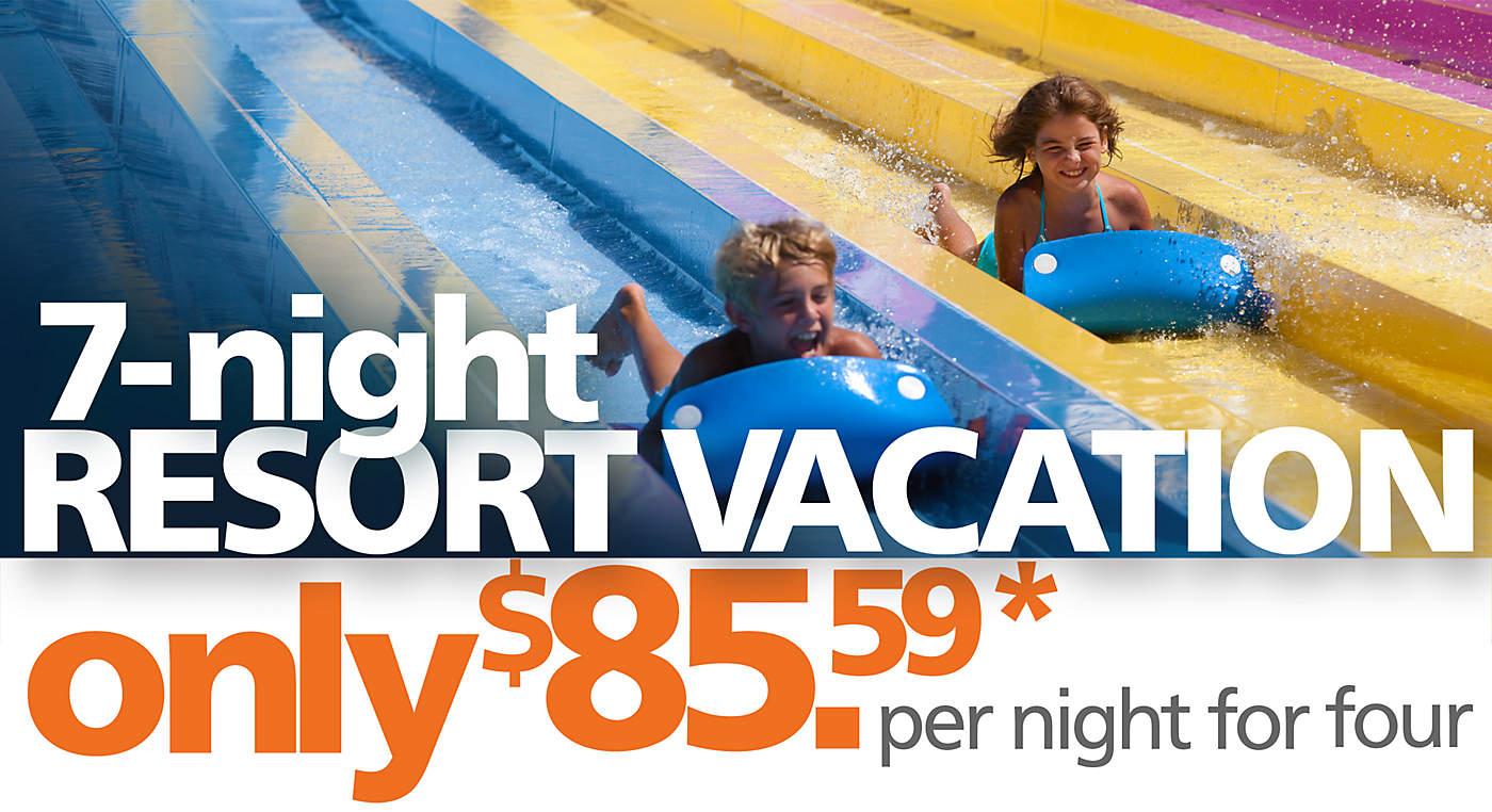 Wisconsin Dells Family Vacation 7 Night Resort